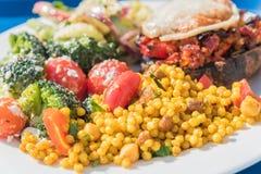 Υγιής σαλάτα κουσκούς Στοκ φωτογραφία με δικαίωμα ελεύθερης χρήσης