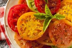 Υγιής σαλάτα ντοματών οικογενειακών κειμηλίων Στοκ εικόνα με δικαίωμα ελεύθερης χρήσης