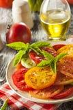 Υγιής σαλάτα ντοματών οικογενειακών κειμηλίων Στοκ Εικόνα