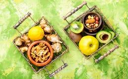 Υγιής σύνθεση τροφίμων Στοκ φωτογραφία με δικαίωμα ελεύθερης χρήσης