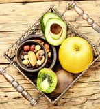 Υγιής σύνθεση τροφίμων Στοκ Εικόνες