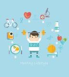 υγιής τρόπος ζωής έννοιας απεικόνιση αποθεμάτων