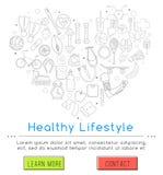 υγιής τρόπος ζωής έννοιας Στοκ εικόνες με δικαίωμα ελεύθερης χρήσης