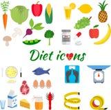 Υγιής τρόπος ζωής, μια υγιεινή διατροφή και καθημερινά διανυσματική απεικόνιση