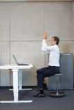 Υγιής τρόπος ζωής στην εργασία γραφείων Στοκ Εικόνα