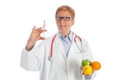 Υγιής τρόφιμα ή έγχυση Στοκ Εικόνες