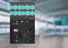 Υγιής φορέας μουσικής και ακουστική App εξισωτών εφαρμοσμένης μηχανικής παραγωγής διεπαφή Στοκ Εικόνες