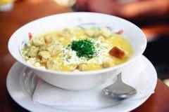 Υγιής φυτική σούπα κρέμας Στοκ φωτογραφία με δικαίωμα ελεύθερης χρήσης