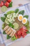 Υγιής quinoa σαλάτα κύπελλων Στοκ φωτογραφίες με δικαίωμα ελεύθερης χρήσης