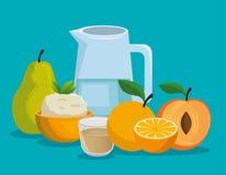 Υγιή εικονίδια επιλογών τροφίμων διανυσματική απεικόνιση