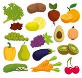 Υγιή εικονίδια επιλογών τροφίμων απεικόνιση αποθεμάτων