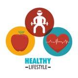 Υγιή εικονίδια τρόπου ζωής Wellness Στοκ φωτογραφίες με δικαίωμα ελεύθερης χρήσης
