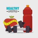 Υγιή εικονίδια τρόπου ζωής Wellness Στοκ Φωτογραφίες