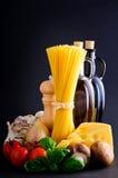 υγιή ζυμαρικά συστατικών Στοκ εικόνες με δικαίωμα ελεύθερης χρήσης