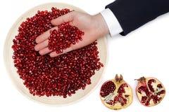 Υγιή και νόστιμα χορτοφάγα βιταμίνες και αντιοξειδωτικοοι τροφίμων σε ένα πιάτο Στοκ Εικόνα