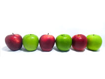 Υγιή κόκκινα και πράσινα μήλα Στοκ Εικόνες
