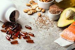 Υγιή λίπη στη διατροφή στοκ εικόνες με δικαίωμα ελεύθερης χρήσης