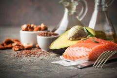 Υγιή λίπη στη διατροφή στοκ εικόνες