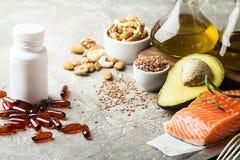 Υγιή λίπη στη διατροφή στοκ φωτογραφία με δικαίωμα ελεύθερης χρήσης