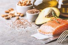 Υγιή λίπη στη διατροφή στοκ εικόνα με δικαίωμα ελεύθερης χρήσης