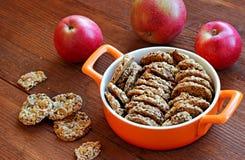 Υγιή μπισκότα σουσαμιού και φυστικιών Στοκ Εικόνες