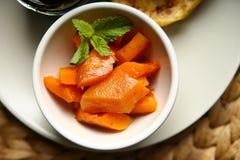 Υγιή τρόφιμα από μια ψημένη κολοκύθα Στοκ εικόνες με δικαίωμα ελεύθερης χρήσης