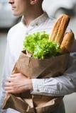 Υγιή τρόφιμα για το άτομο Ψωνίζοντας πεζός Στοκ φωτογραφίες με δικαίωμα ελεύθερης χρήσης