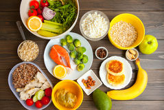 Υγιή τρόφιμα ικανότητας Στοκ εικόνες με δικαίωμα ελεύθερης χρήσης