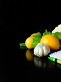 Υγιή τρόφιμα και ένα σημειωματάριο για το γράψιμο στοκ φωτογραφία με δικαίωμα ελεύθερης χρήσης