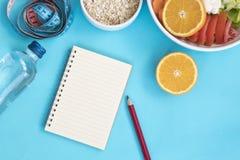 Υγιή τρόφιμα και πλάνισμα για τη διατροφή στοκ εικόνες