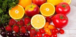 Υγιή τρόφιμα - τρόφιμα με ένα υψηλό περιεχόμενο της βιταμίνης C Στοκ Εικόνα