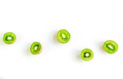 Υγιή τρόφιμα με το ακτινίδιο στο άσπρο γραφείων διάστημα άποψης υποβάθρου τοπ για το κείμενο Στοκ Φωτογραφία