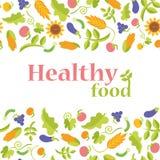 Υγιή τρόφιμα με το σχήμα Στοκ Φωτογραφία