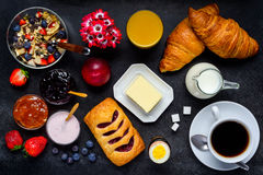 Υγιή τρόφιμα προγευμάτων Στοκ Εικόνα