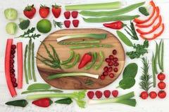 Υγιή φρέσκα έξοχα τρόφιμα στοκ εικόνες