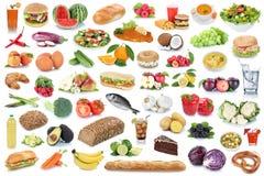 Υγιή φρούτα κατανάλωσης υποβάθρου συλλογής τροφίμων και ποτών veget Στοκ Φωτογραφίες