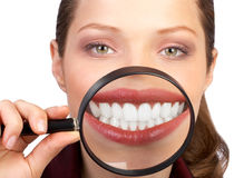 υγιή δόντια Στοκ φωτογραφία με δικαίωμα ελεύθερης χρήσης