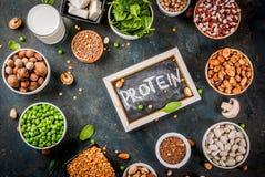 Υγιή vegan τρόφιμα διατροφής, χορτοφάγες πρωτεϊνικές πηγές: Tofu, vegan mil στοκ φωτογραφία με δικαίωμα ελεύθερης χρήσης