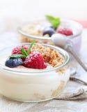 Υγιή verrines γιαουρτιού Στοκ εικόνες με δικαίωμα ελεύθερης χρήσης