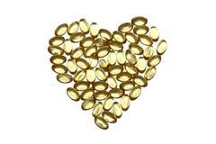 υγιείς βιταμίνες τρόπου ζωής καρδιών υγείας Στοκ Φωτογραφίες