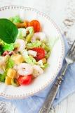 υγιείς γαρίδες σαλάτας Στοκ εικόνες με δικαίωμα ελεύθερης χρήσης