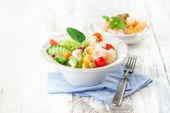 υγιείς γαρίδες σαλάτας Στοκ φωτογραφία με δικαίωμα ελεύθερης χρήσης