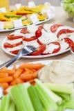 Υγιείς εμβυθίσεις Vegetablesella Sa μοτσαρελών ντοματών Στοκ εικόνα με δικαίωμα ελεύθερης χρήσης