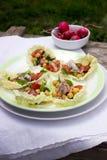 Υγιείς σπιτικές chickpea και η σαλάτα λαχανικών, διατροφή, χορτοφάγα, vegan τρόφιμα, άνοιξη detox τσιμπάνε Στοκ φωτογραφία με δικαίωμα ελεύθερης χρήσης