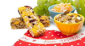 Υγιείς φραγμοί granola Στοκ φωτογραφία με δικαίωμα ελεύθερης χρήσης