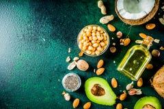 Υγιείς vegan παχιές πηγές στοκ φωτογραφίες με δικαίωμα ελεύθερης χρήσης