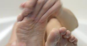 Υγιεινά καθαρά πόδια απόθεμα βίντεο