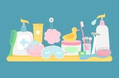 Υγιεινή λουτρών accessorises απεικόνιση αποθεμάτων