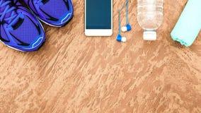 Υγιούς και ενεργού τρόπων ζωής έννοια ικανότητας, αθλητικά παπούτσια, BOT Στοκ Φωτογραφία