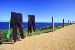 Υγρά κοστούμια που στεγνώνουν στον ήλιο Στοκ Εικόνες